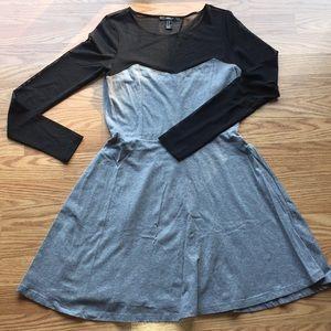 Forever 21 Mesh Top Flare Dress